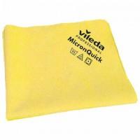 """Салфетка микроволоконная VILEDA """"МикронКвик"""", КОМПЛЕКТ 5 шт., микроволокно, желтые, 38х40 см, 152111"""