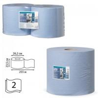 Бумага протирочная TORK (Система W1, W2), КОМПЛЕКТ 2 штуки, Advanced, 750 листов в рулоне, 34х23,5 см, 2-слойная, 130052