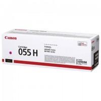 Картридж лазерный CANON (055HM) для LBP663/664/MF742/744/746, пурпурный, оригинальный, ресурс 5900 страниц, 3018C002
