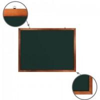 Доска для мела магнитная 90х120 см, зеленая, деревянная окрашенная рамка, Россия, BRAUBERG, 236892