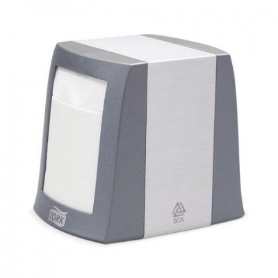 Диспенсер для салфеток TORK (Система N2) Fastfold, настольный, серый, 271800