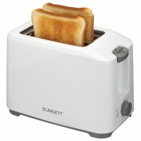 Тостер SCARLETT SC-TM11019, 700 Вт, 2 тоста, 7 режимов, пластик, белый