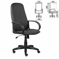 """Кресло офисное BRABIX """"Praktik EX-279"""", ткань/кожзам, серое, 532018"""