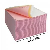 """Бумага самокопирующая с перфорацией цветная, 240х305 мм (12""""), 3-х слойная, 600 комплектов, DRESCHER, 110695"""