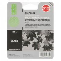 Картридж струйный CACTUS (CS-PG512) для CANON Pixma MP240, черный