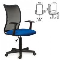 """Кресло BRABIX """"Spring MG-307"""", с подлокотниками, комбинированное синее/черное TW, 531404"""