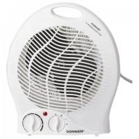 Тепловентилятор SONNEN F-200, 1000/2000 Вт, 2 режима работы, белый, 453493