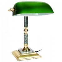 Светильник настольный из мрамора GALANT, основание - зеленый мрамор с золотистой отделкой, 231197 набор для руководителя