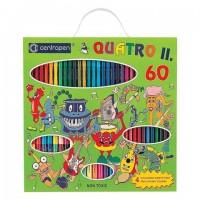 Набор для юного художника: 43 фломастера+поглотитель, 12 цветных карандашей, 4 раскраски, CENTROPEN, 9396, 9 9396 6001