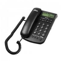 Телефон RITMIX RT-440 black, АОН, спикерфон, быстрый набор 3 номеров, автодозвон, дата, время, черный, 15118352