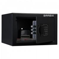 """Сейф мебельный BRABIX """"SF-170EL"""", 170х260х230 мм, электронный замок, черный, 291143, S103BR210614"""