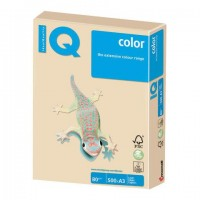 Бумага цветная IQ color БОЛЬШОЙ ФОРМАТ (297х420 мм), А3, 80 г/м2, 500 л., пастель, темно-кремовая, SA24