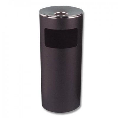 Урна металлическая с пепельницей, 600х250х250 мм, 29 литров, цвет черный