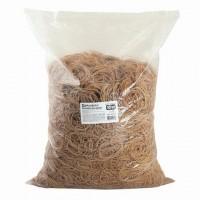 Резинки банковские универсальные диаметром 60 мм, BRAUBERG 10 кг, натуральный цвет, натуральный каучук, 440100