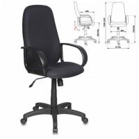 Кресло офисное CH-808AXSN/BLACK, ткань, черное