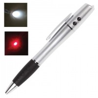 Указка лазерная, радиус 200 м, LED-фонарь, шариковая ручка, линия 0,5 мм, LH612