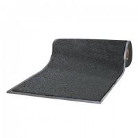 Коврик-дорожка ворсовый влаго-грязезащита LAIMA, 1,2х15 м, толщина 7 мм, черный, В РУЛОНЕ, 602883