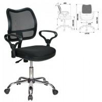 Кресло CH-799SL, с подлокотниками, хром, черное, CH-799SL/TW-11