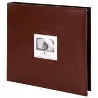 "Фотоальбом BRAUBERG ""Smooth brown"" на 500 фото 10х15 см, под гладкую кожу, коричневый, 391177"