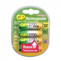 Батарейки аккумуляторные GP, АА, Ni-Mh, 2700 mAh, комплект 4 шт., в блистере