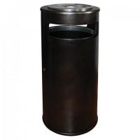 """Урна уличная с пепельницей, кольцом для мешка, створка с замком, 955х455х455 мм, 70 литров, черная, """"Метрополь-2"""""""
