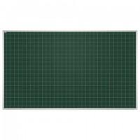 Доска для мела магнитная 85x100 см, зеленая, В КЛЕТКУ, алюминиевая рамка, 2х3 EDUCATION, (Польша), TKU8510K