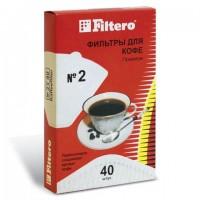 Фильтр FILTERO ПРЕМИУМ №2 для кофеварок, бумажный, отбеленный, 40 штук, №2/40