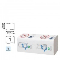 Полотенца бумажные 410 шт., TORK (Система H5) PeakServe, Universal, КОМПЛЕКТ 12 шт., 22,5x20 см, W, 100585