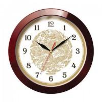 Часы настенные TROYKA 11131190, круг, бежевые с рисунком