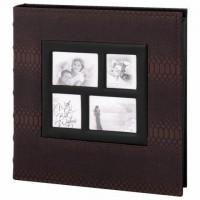 Фотоальбом BRAUBERG на 500 фотографий 10х15 см, обложка под кожу рептилии, рамка для фото, бокс, коричневый, 390680