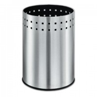 """Корзина металлическая для мусора LAIMA """"Bionic"""", 12 л, матовая, перфорированная, несгораемая, 232268"""
