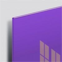 Доска магнитно-маркерная стеклянная 45х45 см, 3 магнита, ФИОЛЕТОВАЯ, BRAUBERG, 236743