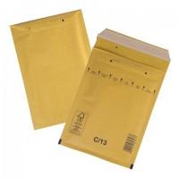Конверт-пакеты с прослойкой из пузырчатой пленки (170х225 мм), крафт-бумага, отрывная полоса, КОМПЛЕКТ 100 шт., С/0-G