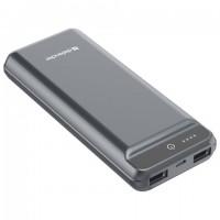 Аккумулятор внешний DEFENDER EXTRALIFE 15000F, 15000 mAh, 2 USB, Li-pol, серый, 83668