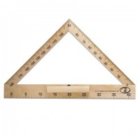 Транспортир для классной доски (транспортир классный), деревянный 40 см, 180 градусов, С176
