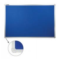 Доска c текстильным покрытием для объявлений60х90 см синяя, ГАРАНТИЯ 10 ЛЕТ, РОССИЯ, BRAUBERG, 231700