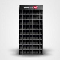 Дисплей настольный для размещения маркеров для скетчинга BRAUBERG ART, 63 ячейки, 378 маркеров (в комплект не входят), 504908