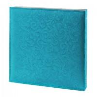 Фотоальбом BRAUBERG свадебный, 20 магнитных листов 30х32 см, под фактурную кожу, синий, 391128