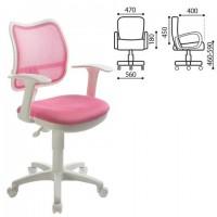 Кресло CH-W797/PK с подлокотниками, розовое, CH-W797/PK/TW-1