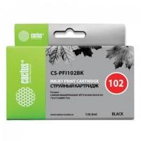 Картридж струйный CACTUS (CS-PFI102BK) для CANON iPF500/510/F600/605/650/700, черный