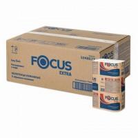 Полотенца бумажные 200 шт. FOCUS (H2) Premium, 2-слойные белые, РАСТВОРИМЫЕ, КОМПЛЕКТ 20 пачек, Z-сложение, 5069902/5048677