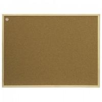 Доска пробковая для объявлений 100x200 см, коричневая рамка из МДФ, 2х3 OFFICE, (Польша), TC1020