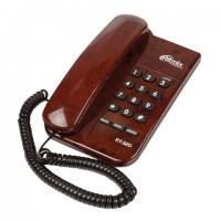 Телефон RITMIX RT-320 coffee marble, световая индикация звонка, блокировка набора ключом, коричневый, 15118552