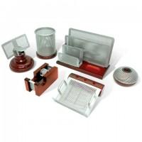 """Набор настольный GALANT """"Wood&Metal"""", 6 предметов, красное дерево и никелированный металл, 230876 набор для руководителя"""