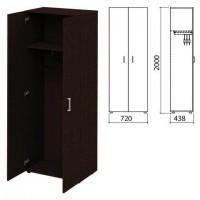 """Шкаф для одежды """"Приоритет"""" 720х438х2000 мм, венге (КОМПЛЕКТ)"""