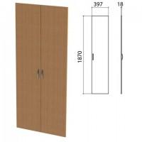 """Дверь ЛДСП высокая """"Этюд"""", комплект 2 шт., 397х18х1870 мм, бук бавария, 400012-55"""
