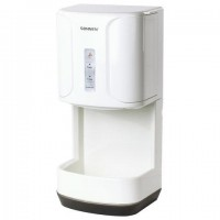 Сушилка для рук SONNEN HD-222, 1200 Вт, каплесборник, пластик, белая, 604749