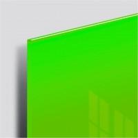 Доска магнитно-маркерная стеклянная 45х45 см, 3 магнита, ЗЕЛЕНАЯ, BRAUBERG, 236740
