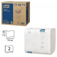 Бумага туалетная TORK (Система Т3), комплект 36 шт., Advanced, листовая, 242 л., 11х19 см, 2-слойная, 114271