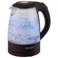 Чайник SCARLETT SC-EK27G97, 1,7 Вт, 2200 Вт, закрытый нагреватеьный элемент, стекло, коричневый